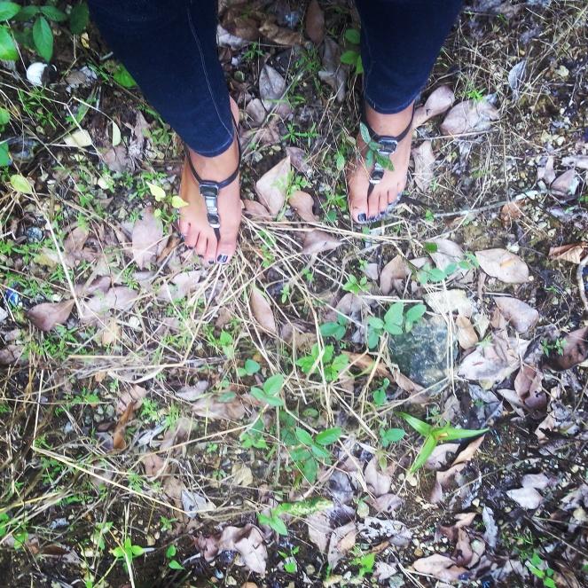 hiking feet jamaica travel alexis chateau