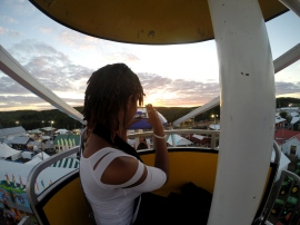 alexis chateau ferris wheel sunset