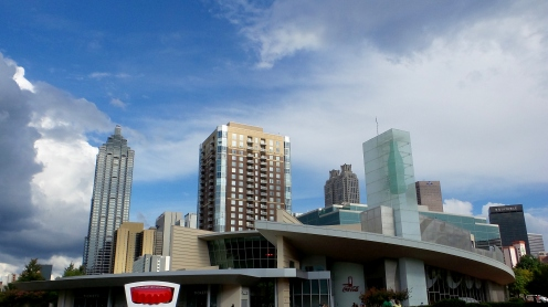 Coca Cola Building and Atlanta Skyline travel