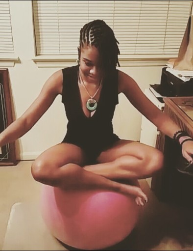 alexis chateau yoga ball exercise fitness