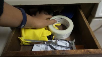 tape scissors hand alexis chateau