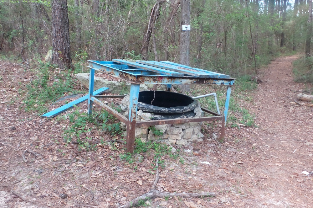 Blue Well on Hiking Trail