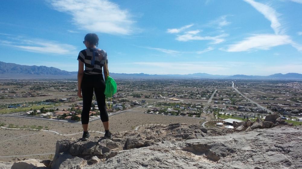 Alexis Chateau Hiking Lone Mountain.jpg
