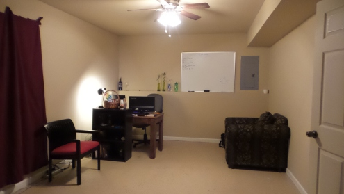 Furnished Room from Where the Dining Area Will Be